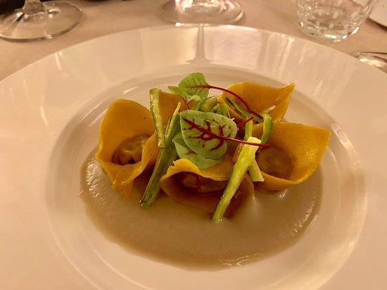 Osteria di Passignano: Fresh Pasta stuffed with duck--Osteria di Passignano