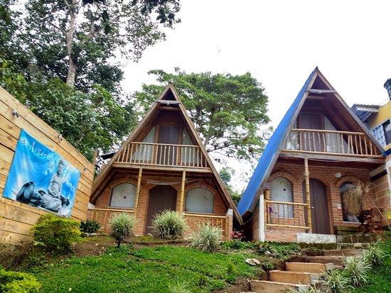 Vue sur les bungalows le notre à droite