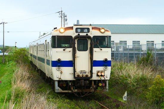 JR Southernmost Nishioyama Station: 指宿枕崎線は単線のローカル電車で非電化のためパンタグラフがない車両で電線も無い電車です。