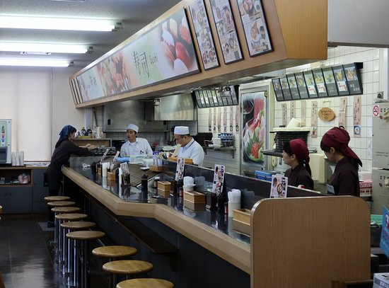 Hofu, Japan: SAにある寿司店