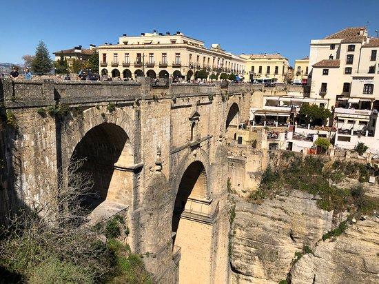 Ronda bridge and coffeehouse/ restaurant