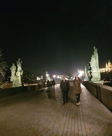 Charles Bridge over the Vltava River