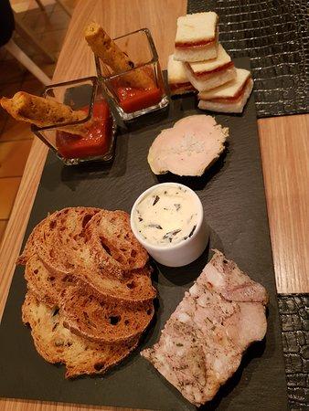 Terrine Foie Gras Beurre Aux Algues Faits Maison Picture Of Restaurant A La Maison Lacaune Tripadvisor