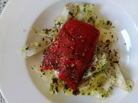 Cannelloni Poivron et fromage de chèvre.