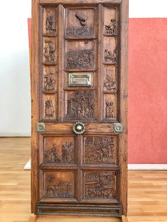 Musee Somme 1916 Admission Ticket: Door carved during the Great War