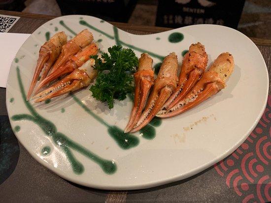 北海道二本蟹爪($88) 每隻松葉蟹只有兩隻蟹爪, 所以這裏便有4隻松葉蟹了!😏 蟹爪蟹肉鮮甜多汁