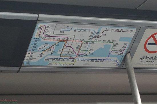 MTR: 열차 내의 비전광형 노선도