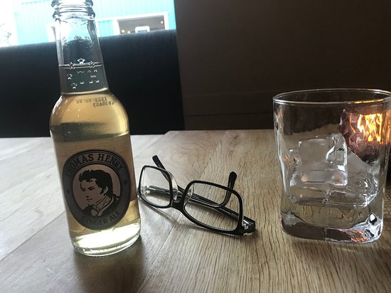 Settling in with ginger-ale