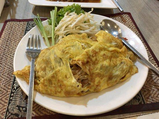 Pad Thai egg wrapped