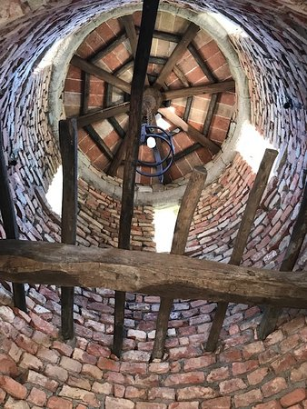 Inside one of the towers.