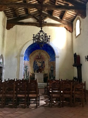 Complete with a little chapel looks and feels just like the ones we've seen in Italy!