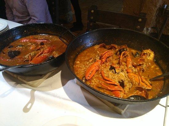 Paellas de Arroz Caldoso con Bogavante