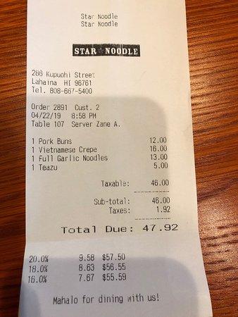 Star Noodle, Lahaina - Menu, Prices & Restaurant Reviews