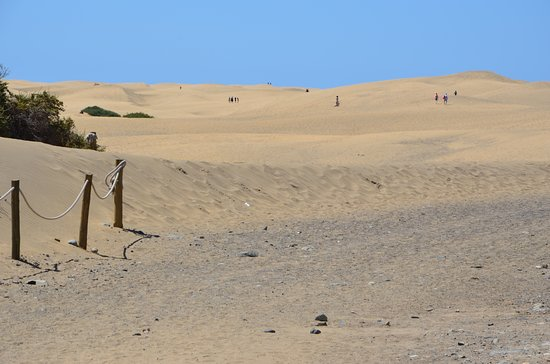 Playa de Maspalomas: duinen vanuit Meloneras
