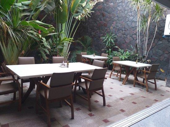 Mad Dog Pizzeria & Restaurante: Garden Area