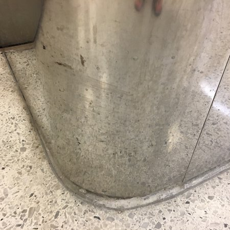 Dirty and beat up elevators