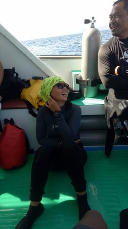 Gracia, our lovely Divemaster