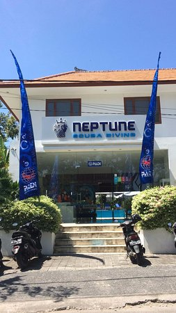 Front shot of the new PADI flags