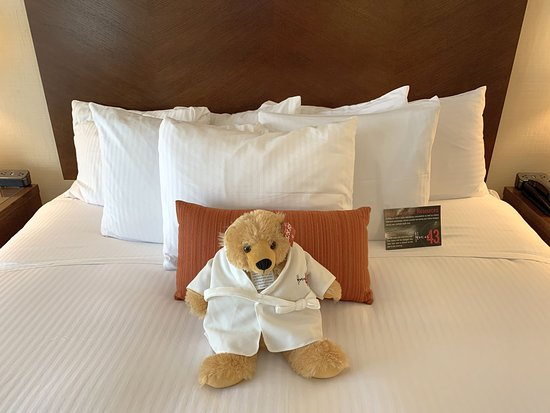 Hotel 43: Lots of pillows and a stuffie