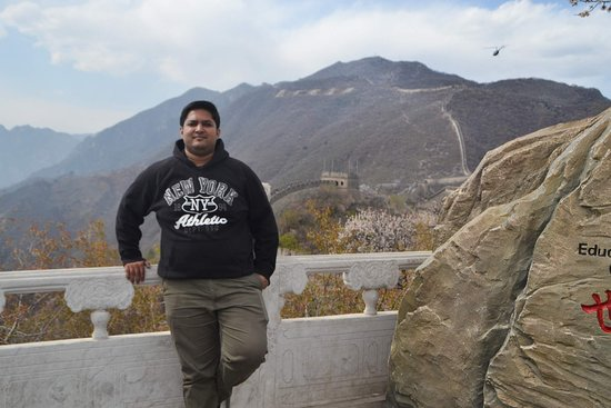 Small Group Beijing Layover Tour to Forbidden City and Mutianyu Great Wall: At Mutianyu Great Wall Peak