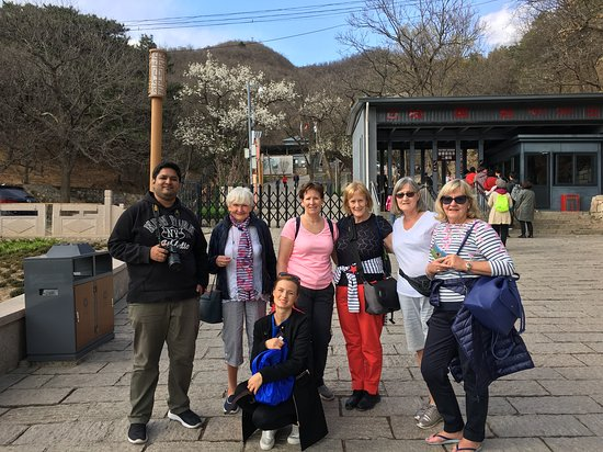 Small Group Beijing Layover Tour to Forbidden City and Mutianyu Great Wall: At Mutianyu Great Wall Entrance