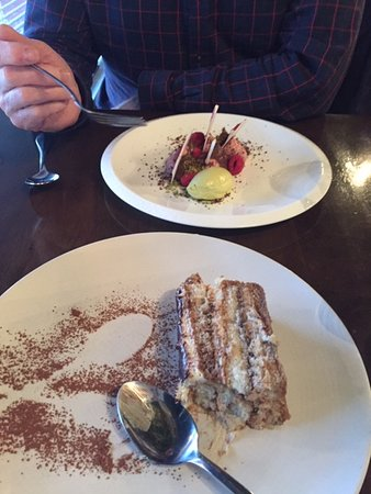 mains and  desserts