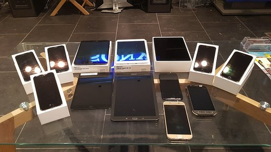We sell NEW and USED Tablets and Phones with 1 year warranty.