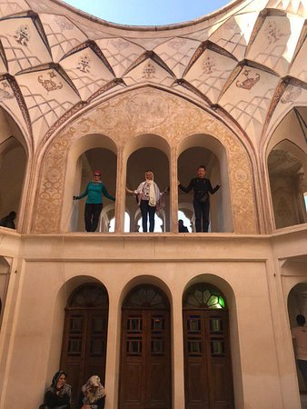 Beautiful #Kashan Our passengers in Tababaie House in Kashan.  Make your Tours special with Miniature Travel