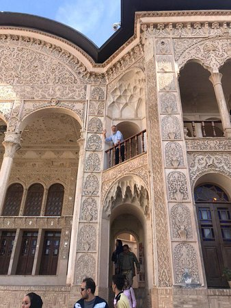 One of our tourists in Kashan. Visit Iran with Us