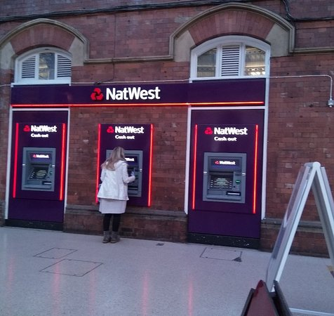 Plenty of cash machines at Darlington Station