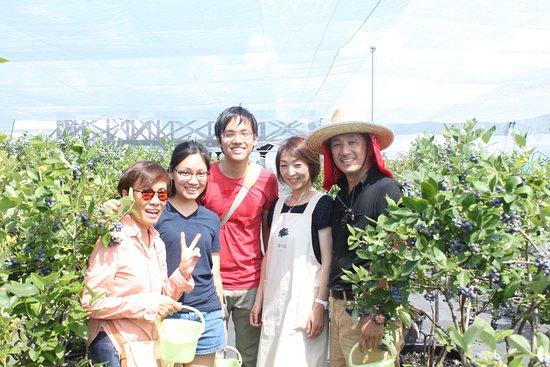 シンガポールから来られたお客さんとの写真