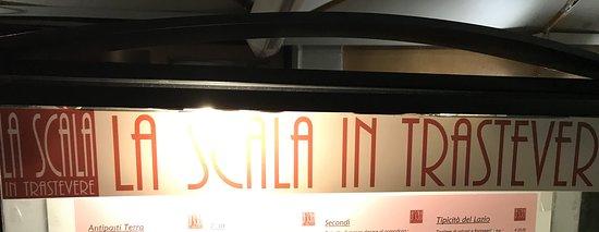 La Scala in Trastevere: Insegna LA SCALA