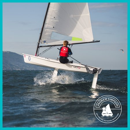 Andrew Simpson Watersports Centre: Flying on a RS Aero