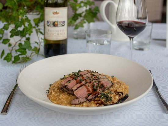 Duck sous vide with Risotto