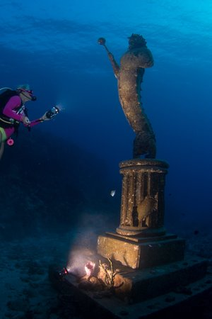 The Guardian of the Reef statue, off Divetech's house reef.