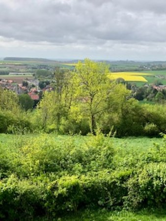 View of the French countryside from the circle