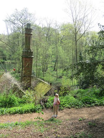 Renishaw Hall And Gardens: Looking down to the disused saw mill