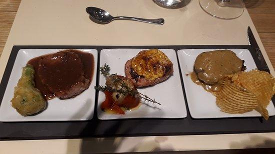 Petit Catala: Three variations of Iberico filet