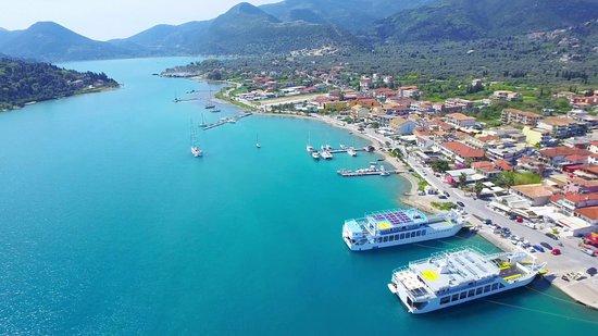 view from Nidri harbor