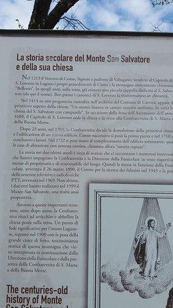 Monte San Salvatore: Storia della chiesetta