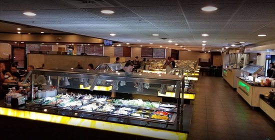 Multiple buffets to choose from.