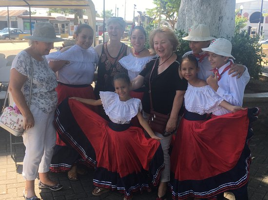 Enjoying part of the dance group