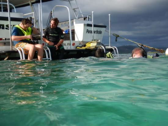 Paradise Scuba & Snorkeling Center: Chiqui being super patient with my youngest son.