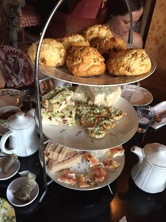 The Attic Door Wine Bar and Tea Room: The tiered selections