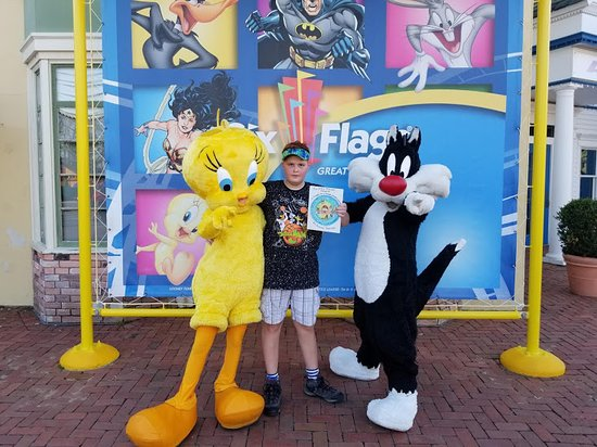 Six Flags Great Adventure: Me Taking A Picture With Sylvester & Tweety.