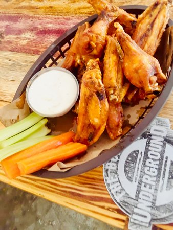 Wings, Wings, Wings!!!  5 flavors. Baked then fried. No batter to deal with!