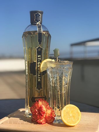 Blue Skies at Blu - time to enjoy delicious St Germain Cocktail
