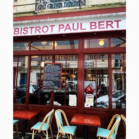 Exterior of the famous Bistrot Paul Bert. Bucket list item for me!