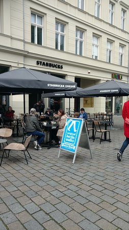 """Discover Berlin Half-Day Walking Tour: Meeting place for """"Discover Berlin"""" Tour at Hackescher Markt train station exit"""