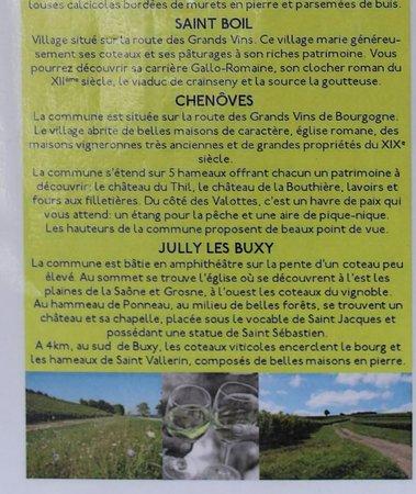 """Les vignerons de Buxy vous proposent trois parcours de promenade """"Les balades Millebuis"""" Brochure à réclamer lors de votre visite à la cave de Buxy"""